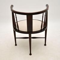 Antique Edwardian Mahogany Tub Chair (10 of 10)