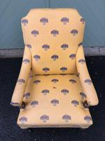 English Walnut Upholstered Armchair for recovering (5 of 8)