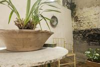 """A 20th Century French Iron and Marble """"orangerie"""" Centre - Garden Table (7 of 13)"""