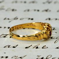 The Edwardian 1902 Scroll Gallery Ruby & Diamond Ring (2 of 4)