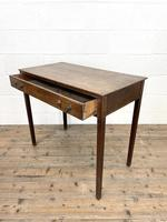 Antique Georgian Oak Side Table with Drawer (9 of 10)