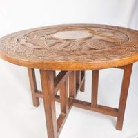 Carved Nigerian African Vintage Table (2 of 11)