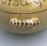Attractive & Good Royal Doulton Stoneware Motto Ware Lidded Bowl - Tea c.1915 (5 of 8)