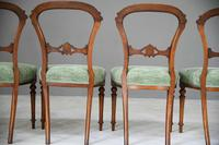 Set of 4 Antique Victorian Walnut Dining Chairs (8 of 12)