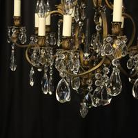 French Bronze 12 Light Antique Chandelier (4 of 10)