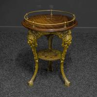 Victorian Cast Iron Drinks Table with Galley (5 of 7)