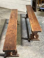 French Farmhouse Dining Table & Benches Set (7 of 33)