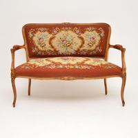 Pair of Antique French Tapestry Salon Armchairs (10 of 10)