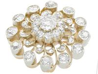 3.76ct Diamond & 9ct Yellow Gold Brooch / Pendant - Antique c.1880 (4 of 9)