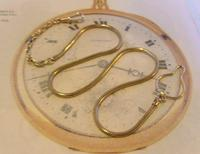 Vintage Pocket Watch 1940s Long 12ct Rolled Gold Snake Link Albert With Button Clip (3 of 12)