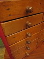 Antique Miniature Scratch Built Bank of Drawers, made from Jamaican Cigar Boxes (17 of 19)