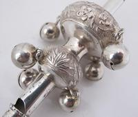 Very Rare Chinese Export Silver Baby Whistle Rattle & Teether KW c.1860 (3 of 7)