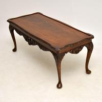 Antique Queen Anne Style Mahogany Coffee Table (5 of 8)