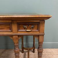 Stunning Victorian Arts & Crafts Walnut Antique Desk (4 of 8)