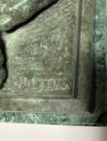 Charles Valton - 19th Century Bronze of Hound Scratching (5 of 5)