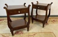 Vintage French Mahogany Bedside Tables (6 of 14)
