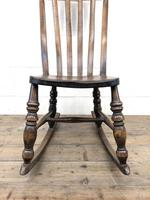 Antique Ash & Elm Rocking Chair (7 of 7)
