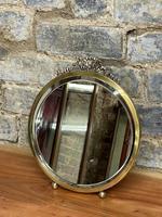 Small Round Brass Mirror