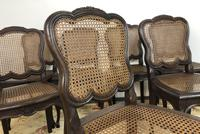 Antique French Set Of 8 Bergère Cane Dining Chairs (8 of 12)
