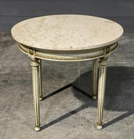 French Round Marble Top Coffee Table (10 of 15)