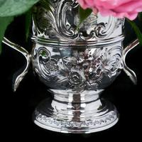 Georgian Solid Silver Loving Cup / Two Handled Cup - London 1748 (8 of 28)
