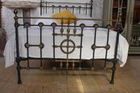 Very Nice  All Original Victorian Brass & Iron Double Bed (3 of 7)