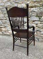 Antique American Armchair with Steamed Bentwood Arms (12 of 14)