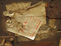 Antique Pine Tuck Box with Old Luggage Labels (14 of 19)