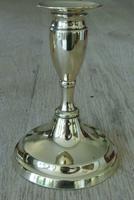 Fine Pair of 19th Century English Brass Candlesticks 18th Century Style (3 of 6)