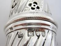 Large Victorian Embossed Silver Sugar Caster with a Detachable Lid (7 of 7)