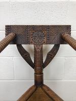 Antique Carved Oak Corner Chair (3 of 10)