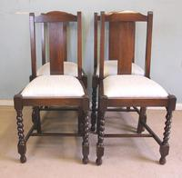 Antique Set of Four Oak Dining Chairs (9 of 9)