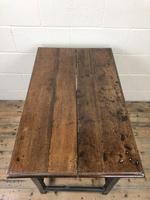 Antique Oak Side Table with Drawer (7 of 11)
