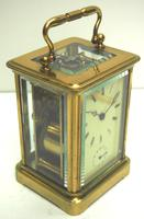 Good Antique French 8-day Carriage Clock Bevelled Case with Bell Alarm Feature (3 of 13)