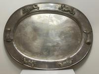 Large Danish Sporting Victorian 19th Century Danish Silver Plate Salver (3 of 31)