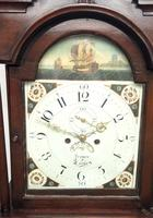 19thc English 8 Day Longcase Clock Mahogany Case Galleon Painted Dial Grandfather Clock (12 of 19)