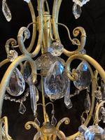 One Light Italian Open Lantern Antique Chandelier (4 of 12)