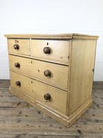 Small Victorian Antique Pine Chest of Drawers (8 of 15)