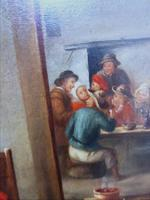 David Teniers The Younger 'After' Dutch Genre Tavern Interior Scene 17th Century Oil Portrait Paintings (8 of 13)