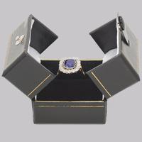 Sapphire & Diamond Cluster Ring 1930s 18ct Gold Rose Cut Diamond Ring (6 of 9)
