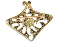 4.21ct Diamond & 18ct Yellow Gold Pendant / Brooch - Antique French c.1900 (8 of 16)