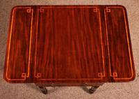 Pembroke Table In Mahogany & Inlay 19th Century - England (6 of 16)