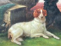 """19th Century Oil Painting Sporting """"Game Dogs"""" Signed Robert Cleminson (17 of 48)"""