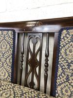 Antique Edwardian Mahogany Inlaid Parlour Sofa (13 of 15)