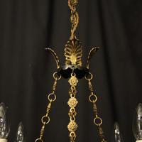 French Gilded Bronze Empire 4 Light Chandelier (8 of 10)
