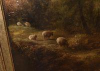 Victorian Oil Painting English Norfolk Landscape Rustic c.1860 Arcadia (4 of 17)