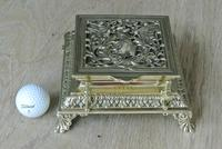 Super Large William Tonks & Sons Phoenix Brass Inkwell with Stamp Tray c.1890 (2 of 12)