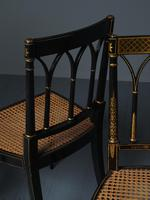Set of 3 Regency Style Painted Bergere Chairs (13 of 18)