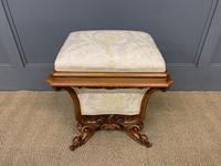 Victorian Walnut Stool / Work-Box (2 of 12)