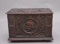 19th Century Carved Oak Log Box (6 of 11)